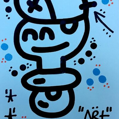 "el xupet negre ""ART ON BLUE"""